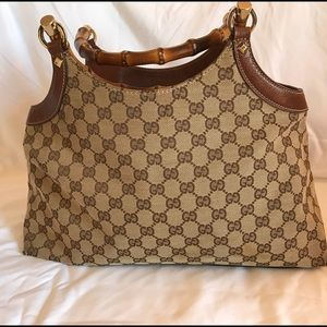 Gucci Purse with Bamboo Handles.